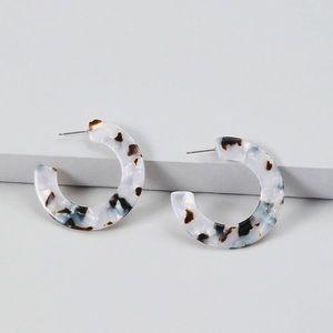 NWT Resin Hoop Earrings